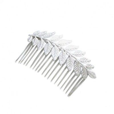 Hårkam sølv blad