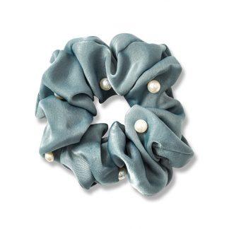 Hårelastik med perler blå